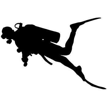 RESCUE DIVER Scuba Diver Diving Vinyl Decal Sticker B