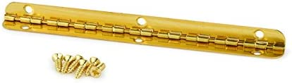 """Securit Piano Hinge Brass Plated Priced Per Length 6/' x 1 1//4/""""  Brass Hinges"""