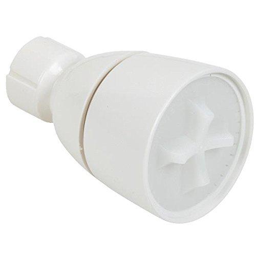 White Sgl Adj Showerhead