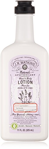 J.R. Watkins Natural Hand Body Lotion, Lavender, 11-Ounce Pack of 3