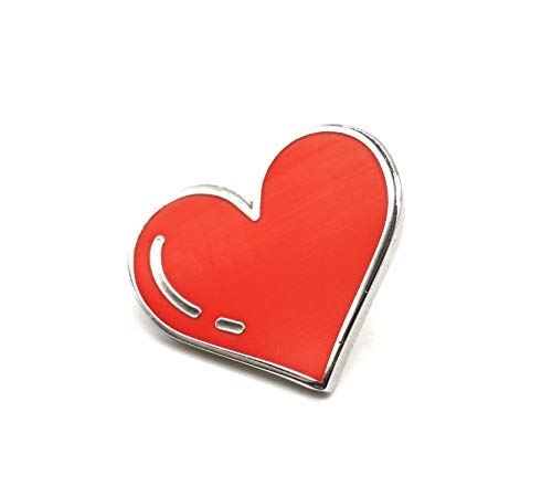 (Compoco Red Heart Love Enamel Pin Decoration for Clothes Bags and Hats)