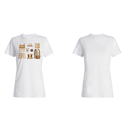 Zubehör Hipster Junge Illustration Damen T-shirt g794f