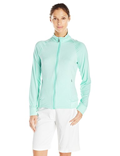Cutter & Buck Women's Moisture Wicking, UPF 50+, Long-Sleeve Lena Full Zip Jacket, Sea Glass, XS