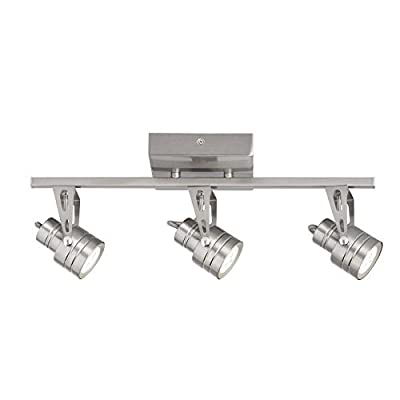 Kichler Cadigan 3-Light 17.75-in Satin Nickel Dimmable LED Track Bar Fixed Track Light Kit