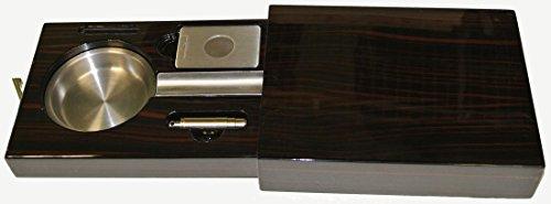 Visol Products VASH711 Drawer Single Cigar Ashtray, Iron Wood Finish