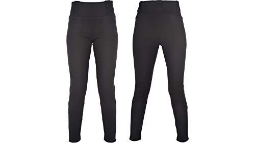 Oxford Ladies Motorcycle Kevlar Lined Super Leggings Trousers - Black (Reg) 20