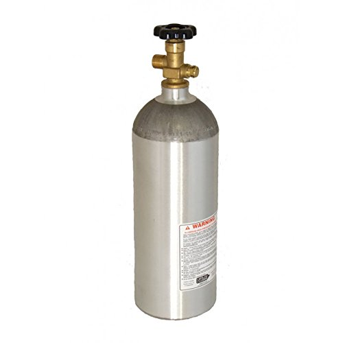 - 5 LB Aluminum CO2 Cylinder Tank Catalina - Sherwood CGA 320 Post Valve & Dip Tube (Shipped Empty)