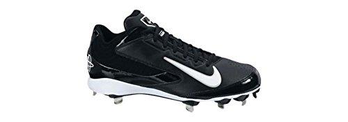 Nike Herren Huarache Pro Low Metal Baseballschuh Schwarz-Weiss
