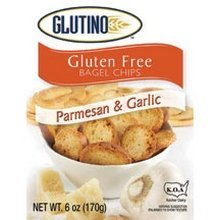 Glutino Parmesan/Garlic Bagel Chips 24x 6 Oz by GLUTINO