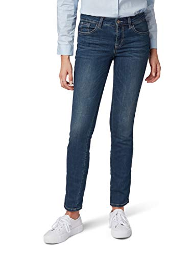 Denim 10136 Mujer Azul Im Fit dark Jeans Tom Vaqueros Tailor Gewaschene Slim Blue Alexa qxa6xntTBw
