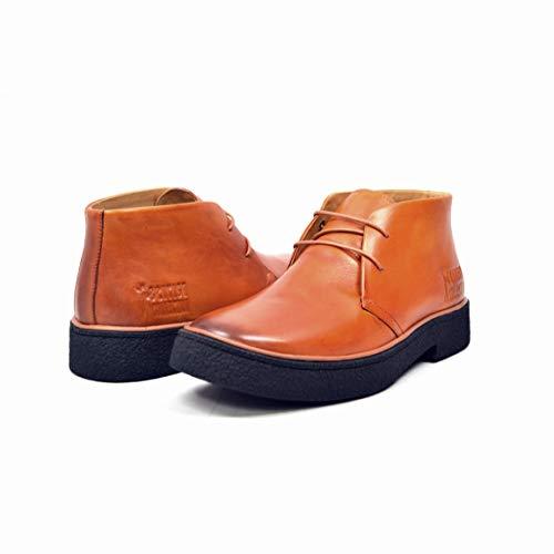 (British Walkers Men's Playboy High top Chukka Boot, Rust Leather, 8 M )