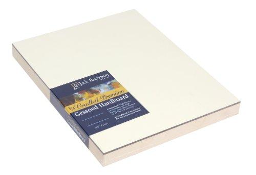 Jack Richeson 3/4-Inch Premium Tempered Gessoed Hardboard Panel, 8-Inch by 8-Inch