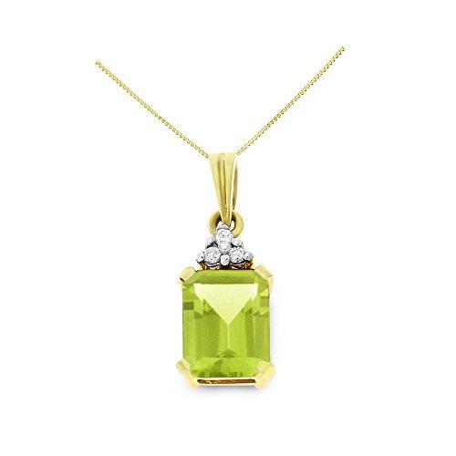 Diamond 14k Square Pendant - 3
