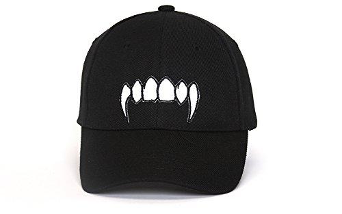 Clover Patch Adjustable Black Cap - Vampire Teeth