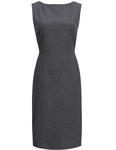 (ROEYSHOUSE Women Sheath Cocktail Business Sleeveless Midi Casual Bodycon Ladies Dress Grey XXL)