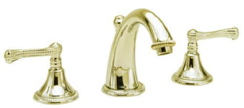 Newport Brass 1020/01 1020 Series Widespread Lavatory Faucet, Forever Brass ()