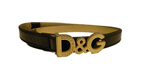 Dolce and Gabbana Belts Women Black Patent Leather