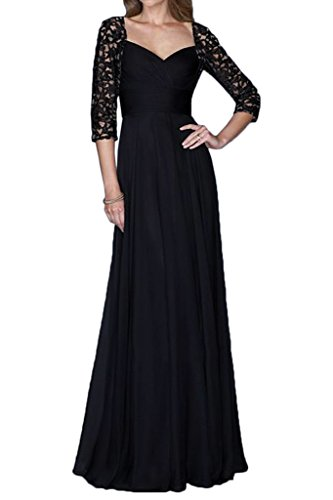 La Mariee Fashionable Long Chiffon Mother of Bride Dresses Formal Party Dresses-26W-Dark Navy