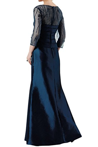 of Bride Long Sleeves the Bride Grace Mother Sheer blue Angel 4 Taffeta Navy 3 with Dress OXdqwOt