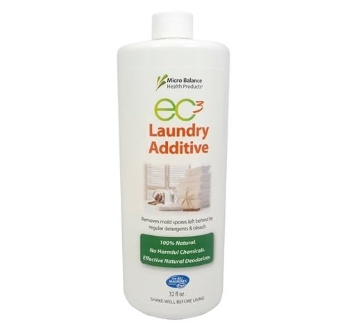 Micro Balance EC3 Laundry Additive, 32 FL OZ, Add to Your Washing Machine Rinse Cycle, Rinse Away Mold Spores, Bacteria, Musty Smells from Clothes, Towels and Washing Machines, All Natural ()