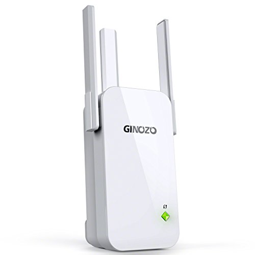 WiFi Range Extender, Ginozo R3 Wireless N300 WiFi Repeater 2.4GHz Internet Network Signal Amplifier Booster with 3 External Antennas (1 Pack) by GINOZO