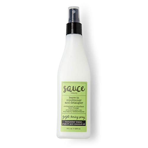 Tzatziki Taming Spray Leave In Conditioner & Detangler with Cucumber Water, Coconut Oil, Yogurt, and Mint to help Smooth Hair & Control Frizz - Sulfate Free - Prevents Split Ends and Hair Breakage