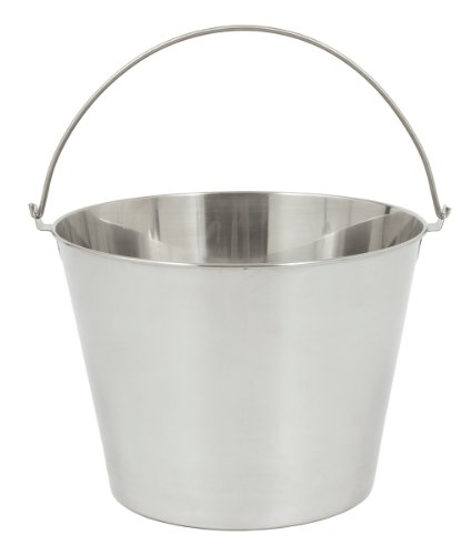 Bayou Classic 4825 Stainless Beverage Bucket, 2.5-Gallon (Beverage Stainless Steel Bucket)
