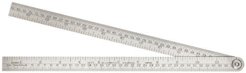 Starrett 471 Steel Folding Rule With Circumference Measurement, 24 Length, 3/4 Width, 1/32 Thickness by Starrett (Steel Folding Rule)