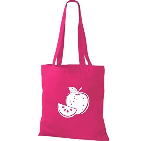 Bolso Tu Frutas Shirtinstyle Tela Manzana De Bolsa Hortalizas Favorita Y X 42 38 Fucsia Algodón Cm XTqwqgd