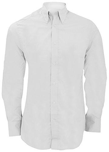 Kustom Kit City-Maglia a maniche lunghe, da 16 KK386, colore: bianco
