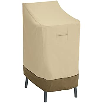 Classic Accessories Veranda Patio Bar Chair/Stool Cover - Durable and Water Resistant Patio Set  sc 1 st  Amazon.com : kitchen bar stool covers - islam-shia.org
