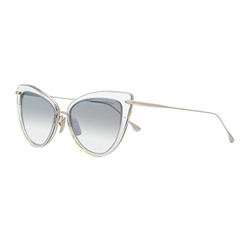 Dita Heartbreaker Sunglasses 22027E Clear 12K Gold / Grey Gradient Flash - Dita Sunglasses Eye Cat