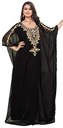 KoC Women's Kaftan Maxi Dress Farasha Caftan KFTN119-Black ()