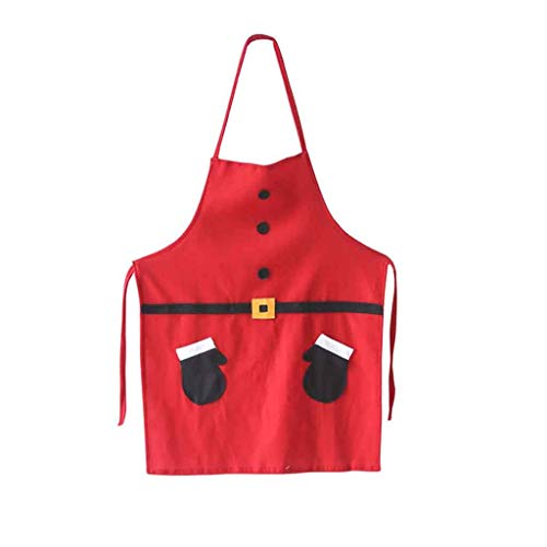 Iusun Christmas Decorations Bib Apron Cartoon Santa