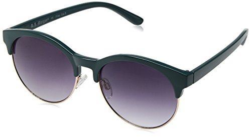 A.J. Morgan Deborah Oval Sunglasses, Teal, 62 mm