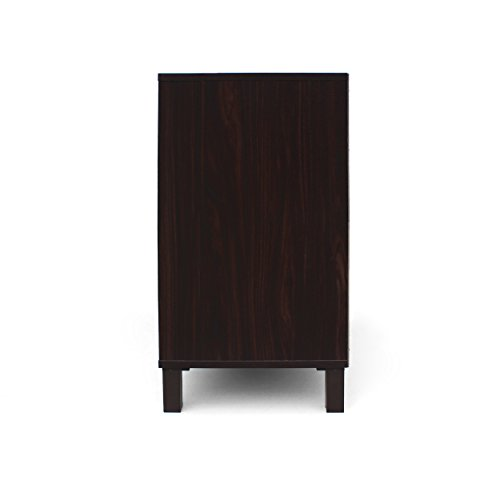 Provence 2-Shelf Walnut Finished Faux Wood Cabinet with Sanremo Oak Interior by Great Deal Furniture (Image #8)