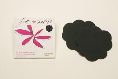 Foot Petals Tip Toes Foot Cushions-Black Iris-3 pair