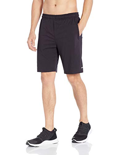 Amazon Essentials Men's Performance Cotton Short, Black, Sma