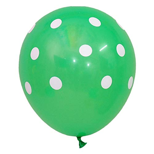 50 Ct 12 Inch Balloons Polka Dot Assorted Color 12 Inch Helium Quality Latex Inflatable for Festival Party Decoration Happy Birthday Home Decor Air Balls (15 Colors for Choice) (Dark Green)]()