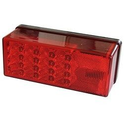 WATERPROOF LED OVER 80'' 3X8 LOW PROFILE TAIL LIGHTS by Wesbar Left Hand road Side Hand/Roadside by Wesbar