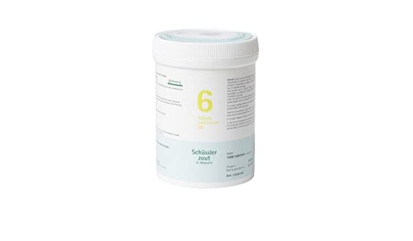 Nr. 6 sulfuricum potasio D6 1000 tablets Sin Gluten: Amazon.es: Salud y cuidado personal
