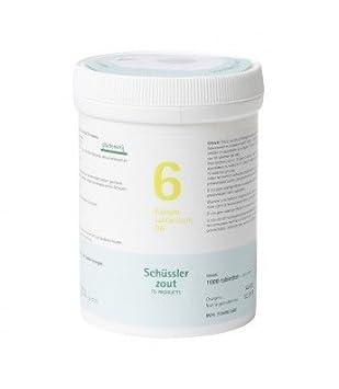 Sales Schüssler Pfluger. Nr. 6 sulfuricum potasio D6 1000 tablets Sin Gluten: Amazon.es: Salud y cuidado personal