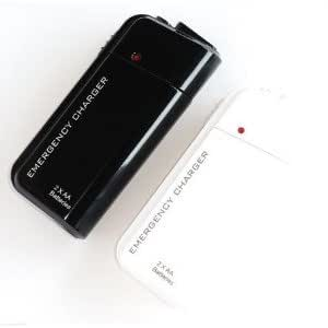 NEEWER Portable AA Battery Powered Emergency Charger with Flashlight - Black - For Apple iPhone 4