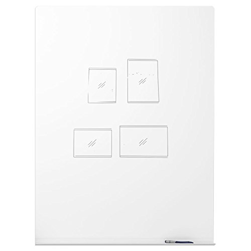 48'' x 47'' MeetUp Wall Mounted Magnetic Writing Surface by Peter Pepper