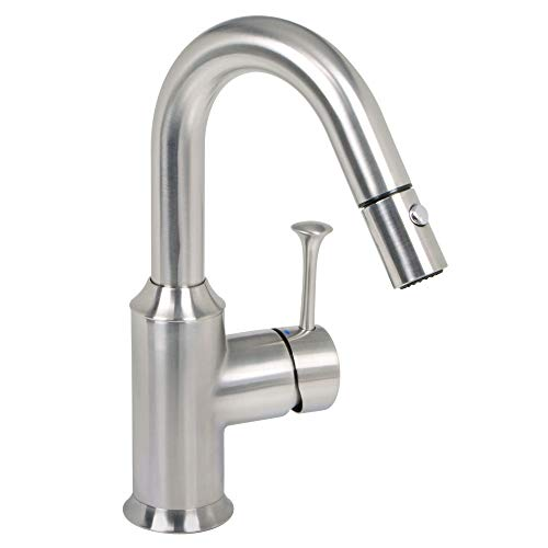 American Standard 4332.410.075 Pekoe Bar Faucet with PULL-DOWN Spray, Stainless Steel