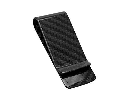 CL Carbonlife(TM) Genuine Carbon Fiber Glossy Money Clip Credit Card Business Card Holder Black - L Cl To