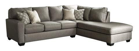 - Ashley Furniture Design - 91202 Calicho Contemporary LAF Sofa and RAF Corner Chaise - Cashmere