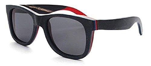 0364a160d241 Handmade Skateboard Wood Sunglasses In A Wayfarer That Float! Polarized  UV400 Lenses 1 Eco Friendly