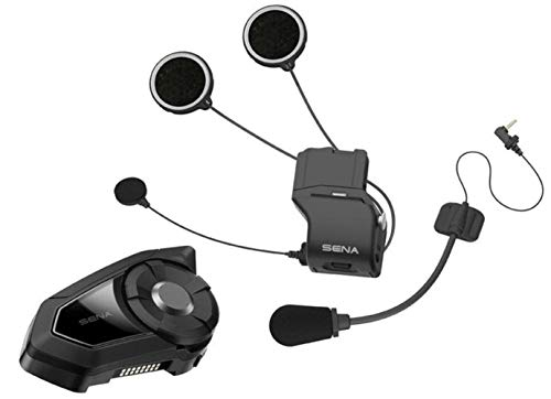 Intercom with Boom and Wired Microphone Dual Sena SMH10-D-01SM Snowmobile Bluetooth Headset