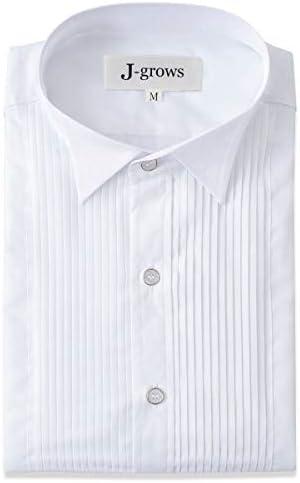 ウィングカラーシャツ 白 結婚式 二次会 挙式 ウエディング タキシード用 モーニング用 フォーマル 撮影 カフスボタン対応 プリーツ入り 【商品番号:35sh1】